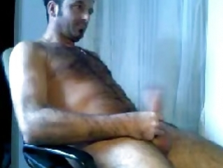 gay brun poilu branlette webcam